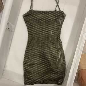 Nasty Gal Dresses - Like new Nasty Gal dress gold